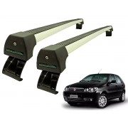 Rack Teto Bagageiro Palio / Siena 4 portas (Exceto Novo Palio e Grand Siena) Longlife Modelo Aluminio Anodizado