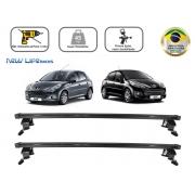 Rack Teto Bagageiro Peugeot 206 / 207 4 Portas Hatch e Sedan Todos Anos