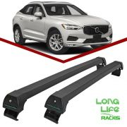 Rack Teto Bagageiro Volvo XC60 até 2016 Longlife Sports Alumínio Preto
