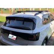 Rack Teto Bagageiro VW TCross Sem Teto Solar  Longlife Grip Aluminio Preto