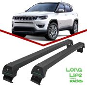 Rack Teto Travessa Jeep Compass Após 2017 Longlife Sports Aluminio