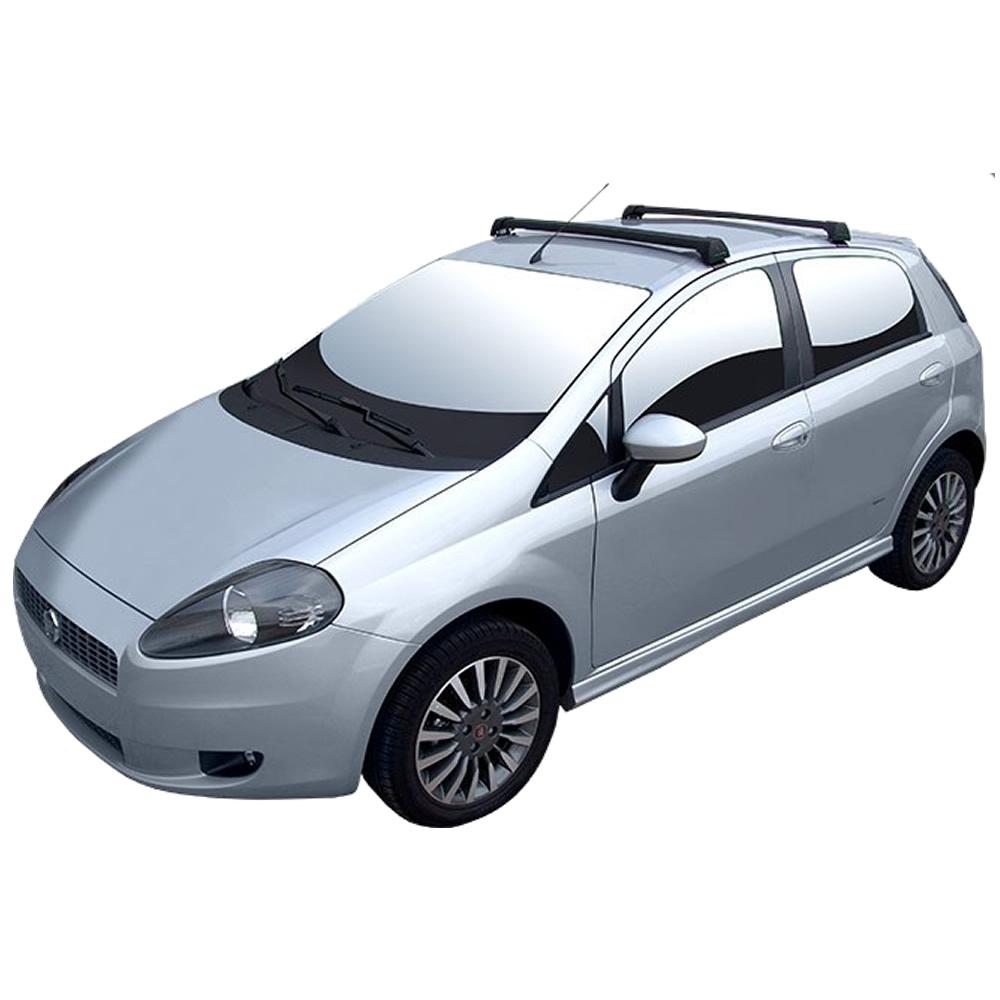 Rack Teto Bagageiro Fiat Punto Longlife Sports Alumínio Preto