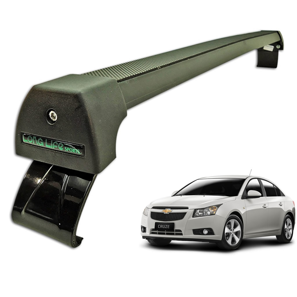 Rack Teto Bagageiro Cruze Hatch e Sedan Até 2015 Longlife Modelo Aluminio Preto  - Unicar