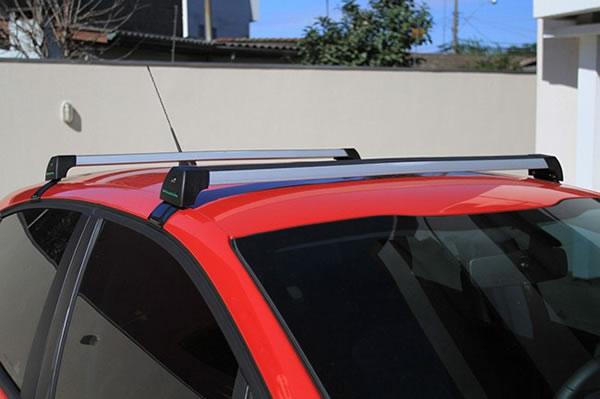 Rack Teto Bagageiro Onix / Prisma 2013 em Diante Longlife Modelo Aluminio Anodizado