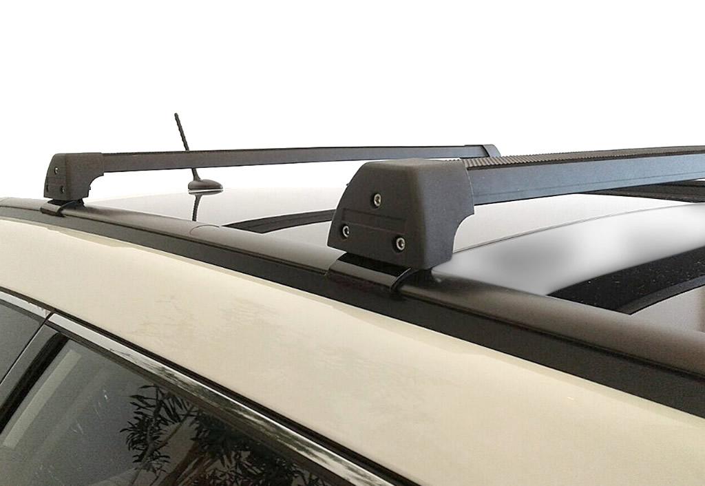 Rack Teto Bagageiro Santa Fe e Grand Santa Fe a partir de 2014 5 e 7 lugares c teto solar LongLife Modelo Aluminio  - Unicar