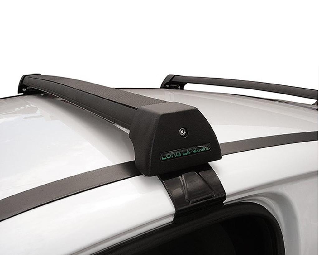Rack Teto Bagageiro Fit 2015 Em Diante Longlife Modelo Aluminio Preto  - Unicar