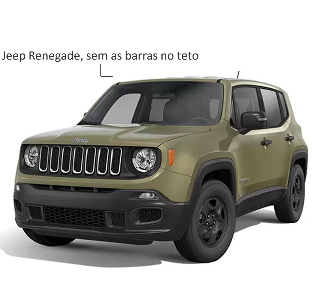Rack Teto Bagageiro Jeep Renegade sem barras Longitudinais Longlife Modelo Aluminio Preto  - Unicar