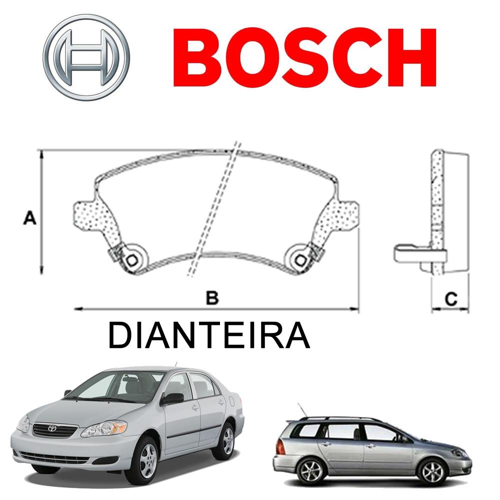 Pastilha Freio Dianteiro E Traseiro Corolla Fielder 2003 2004 2005 20062007 2008 Bosch Original  - Unicar