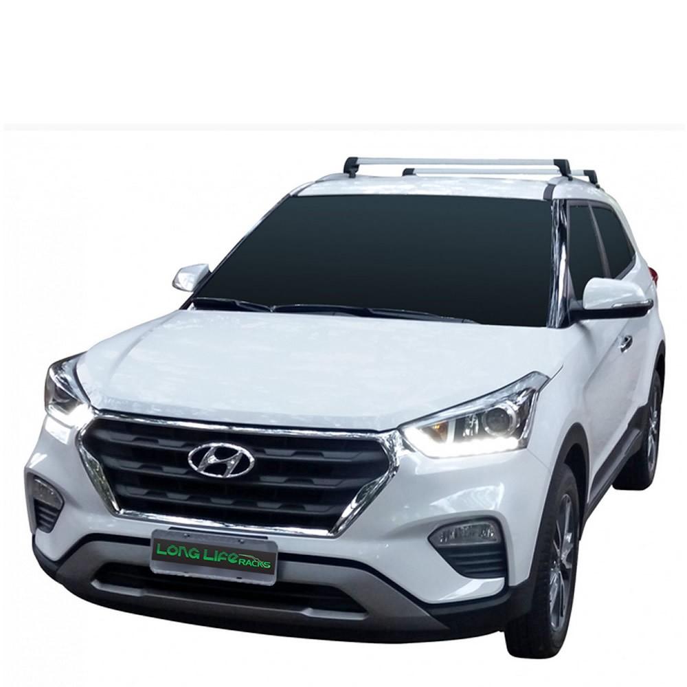 Rack Teto Travessa Hyundai Creta Longlife Sports Aluminio