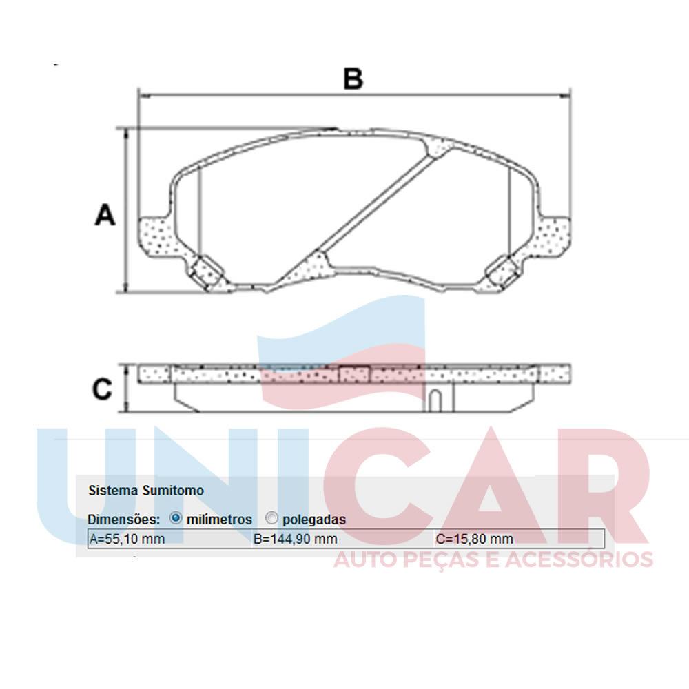 Pastilha Freio Dianteira Jeep Compass 2.0 16v 2012 2013 2014 2015 2016