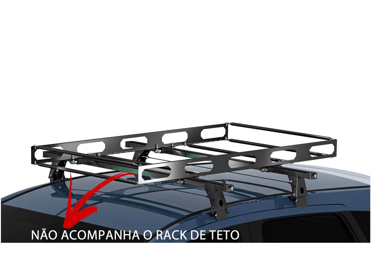 Bagageiro Maleiro Teto Aço Universal Gradeado Para Transporte de Cargas Resistente Necessita ter Rack Largura 0,73m x Profundidade 1,2m  - Unicar
