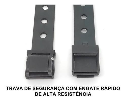 Cinta Fixação Calha Suporte Rack Transbike Longlife Kit 2 Pc  - Unicar
