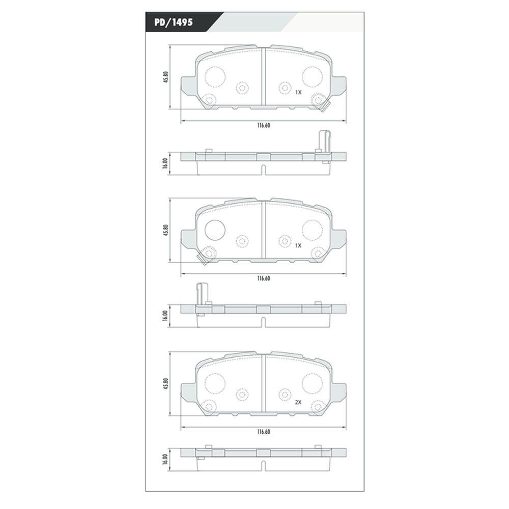 Disco + Pastilha Freio Traseiro Honda HRV 1.8 Todos Após 2015
