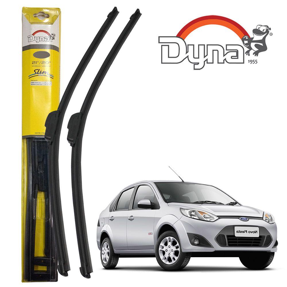 Jogo Palheta Dianteira Fiesta Hatch e  Sedan Após 2011 Slim Blade Plus Dyna