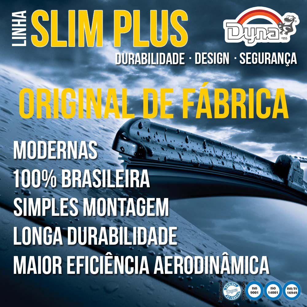 Jogo Palheta Dianteira Fiesta Hatch e  Sedan Após 2011 Slim Blade Plus Dyna  - Unicar