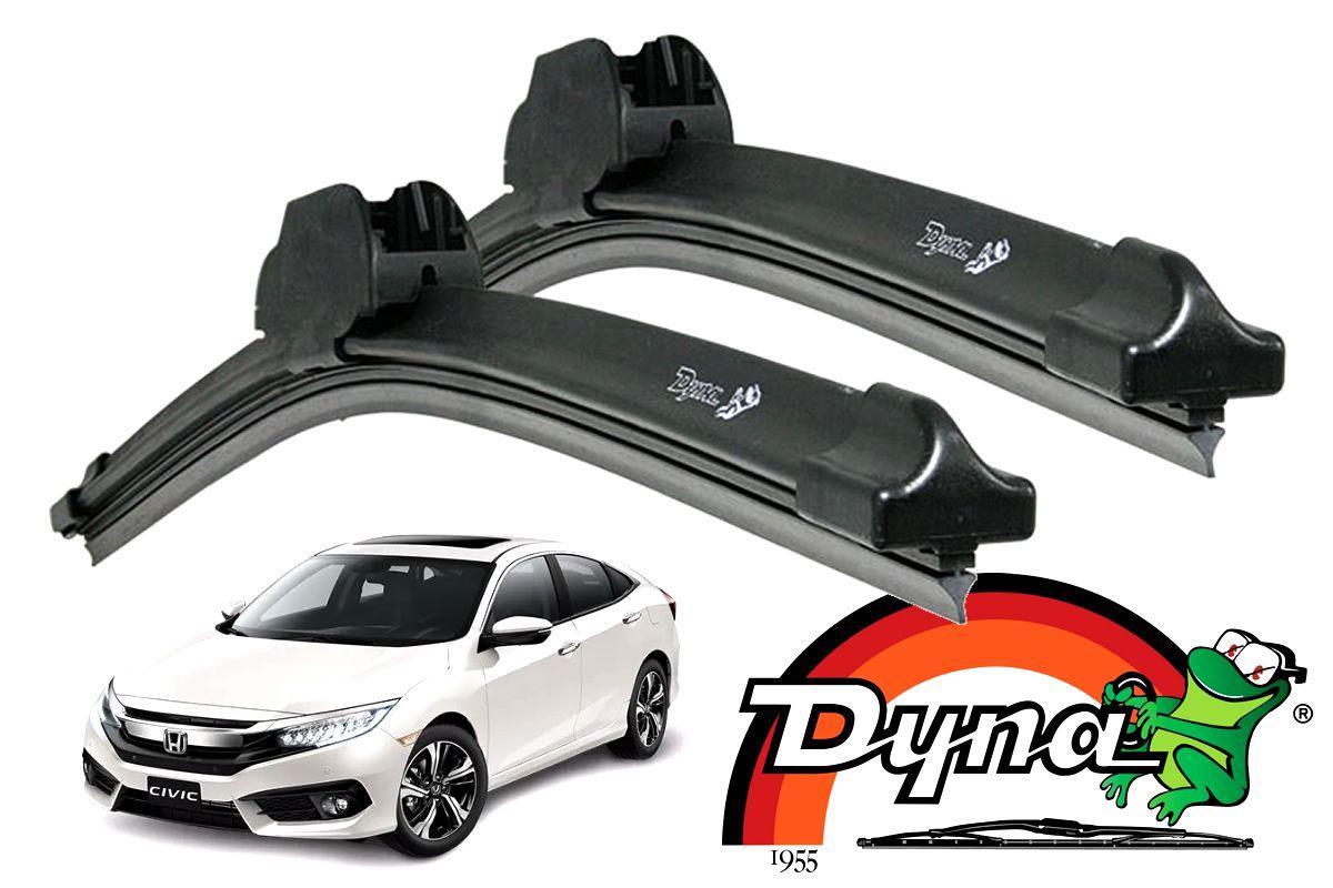Jogo Palhetas Limpador Dianteiro Honda Civic G10 Após 2017 Original Dyna  - Unicar