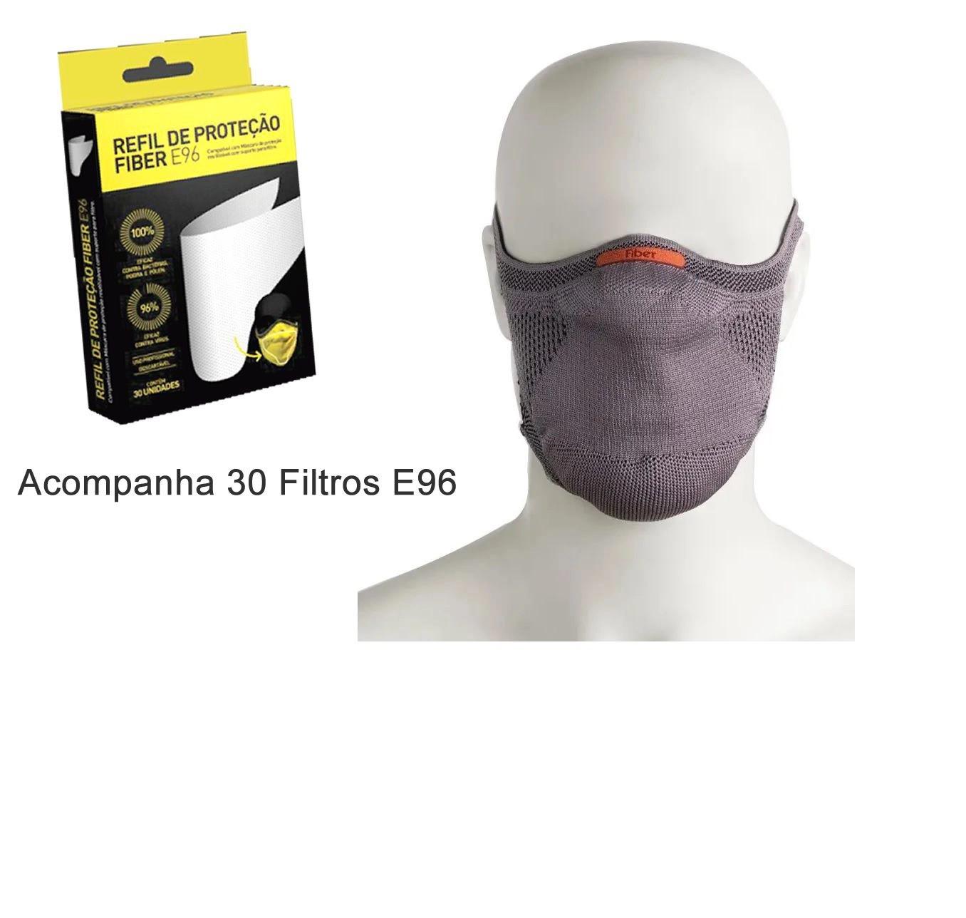 kit 30 Filtros E96 Mascara Proteção Fiber knit