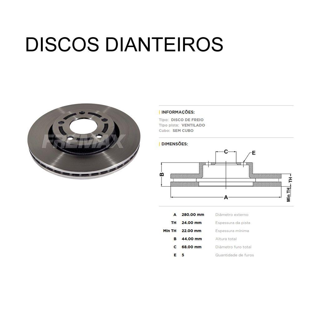 Kit Disco e Pastilha Dianteiro + Traseiro Nissan Sentra 2.0 2014 em diante  - Unicar