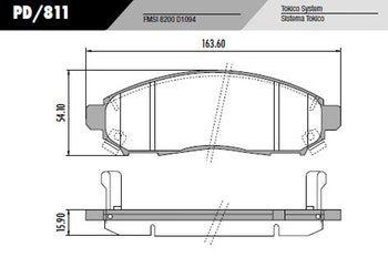 Kit Disco + Pastilha Freio Dianteira Frontier 2.5 4x2 4x4 2007 a 2016  - Unicar