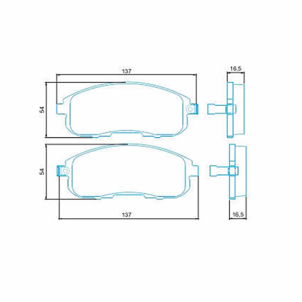 Kit Disco + Pastilha Freio Dianteiro Cerâmica Mitsubishi SX4 2.0 2008 a 2015  - Unicar