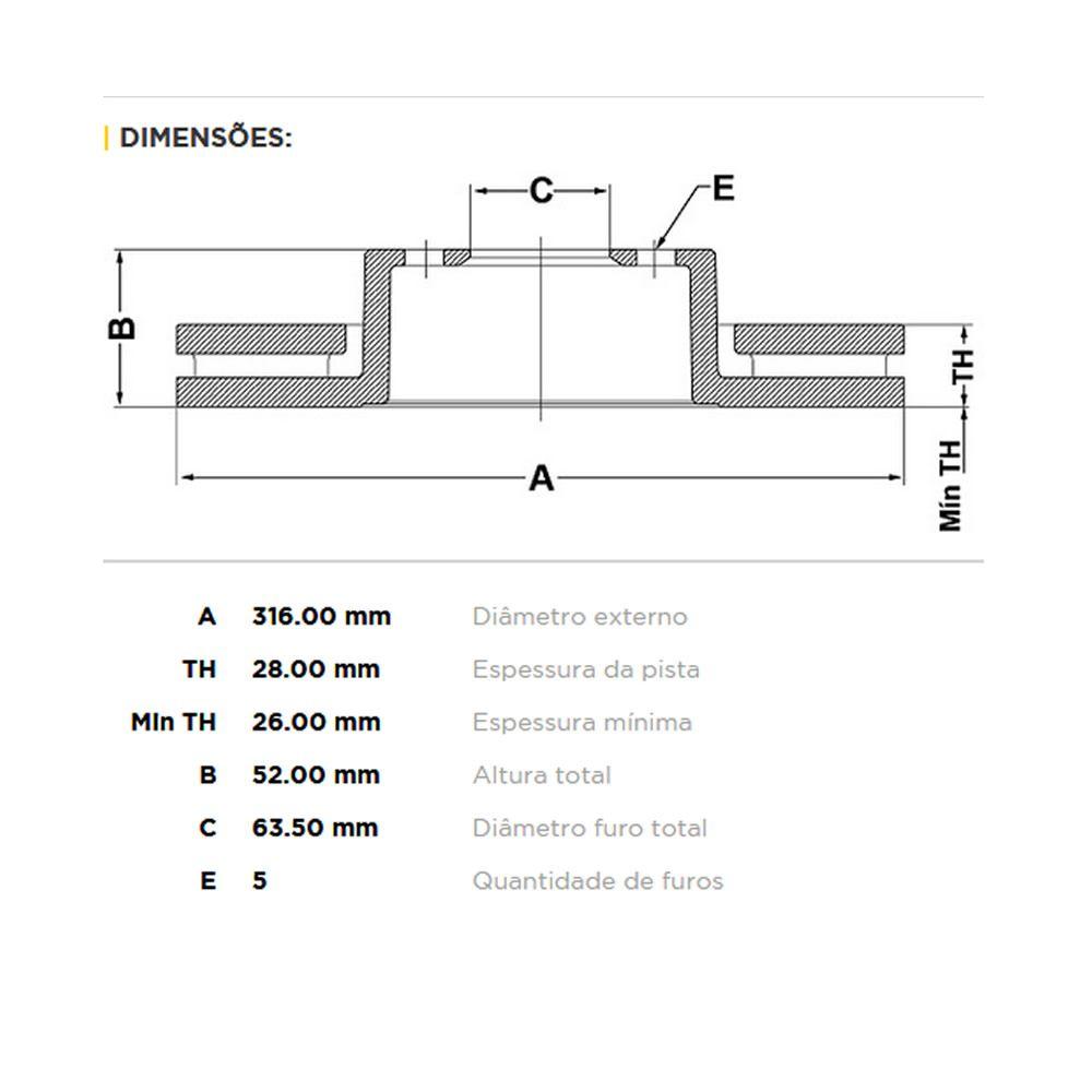 Kit Disco + Pastilha Freio Dianteiro Freelander 2 3.2  - Unicar