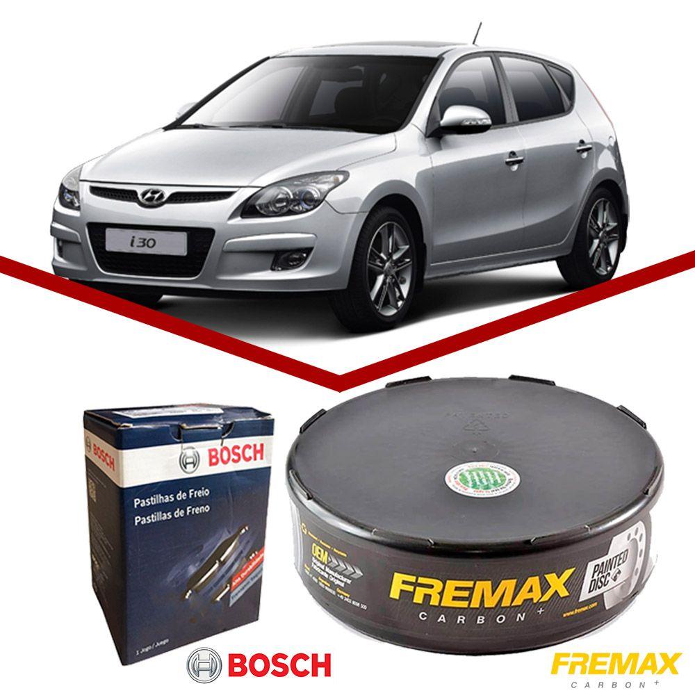 Kit Disco + Pastilha Freio Dianteiro Hyundai I30 2009 a 2012