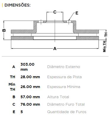 Kit Disco + Pastilha Freio Dianteiro Amarok 2.0 16v Após 2010 Original TRW
