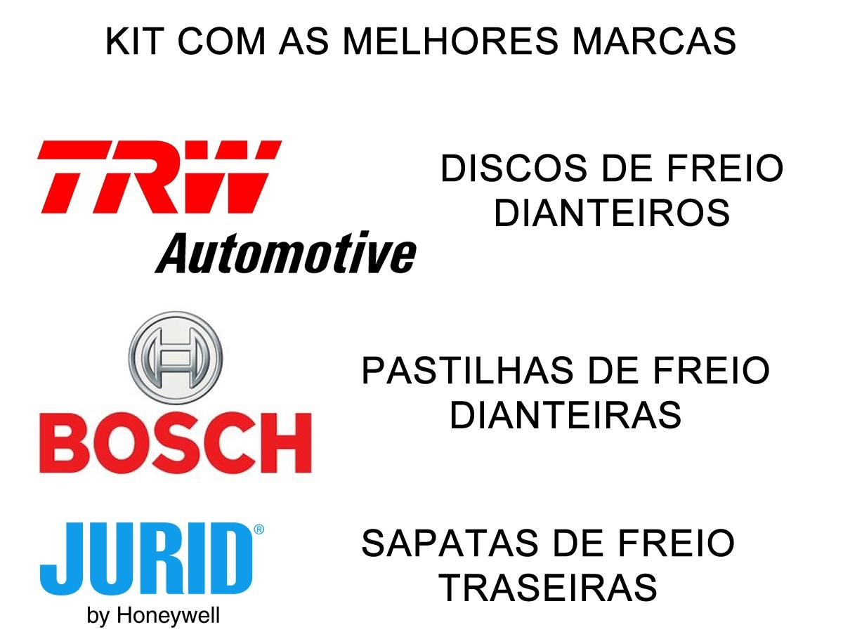 Kit Disco + Pastilha + Sapata com Lona Traseira Amarok 2.0 16v