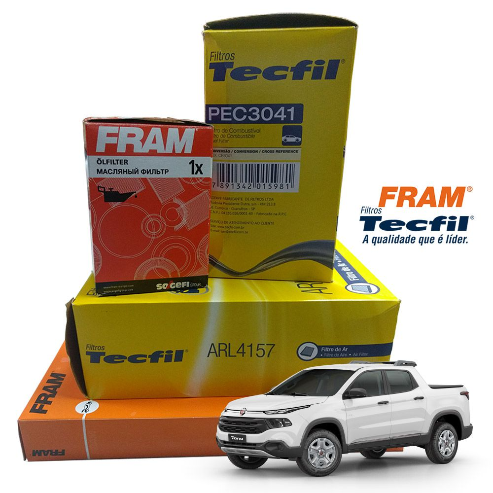 Kit Filtro Ar + Cabine + Combustivel + Oleo Compass Toro Renegade 2.0 16v Diesel  - Unicar