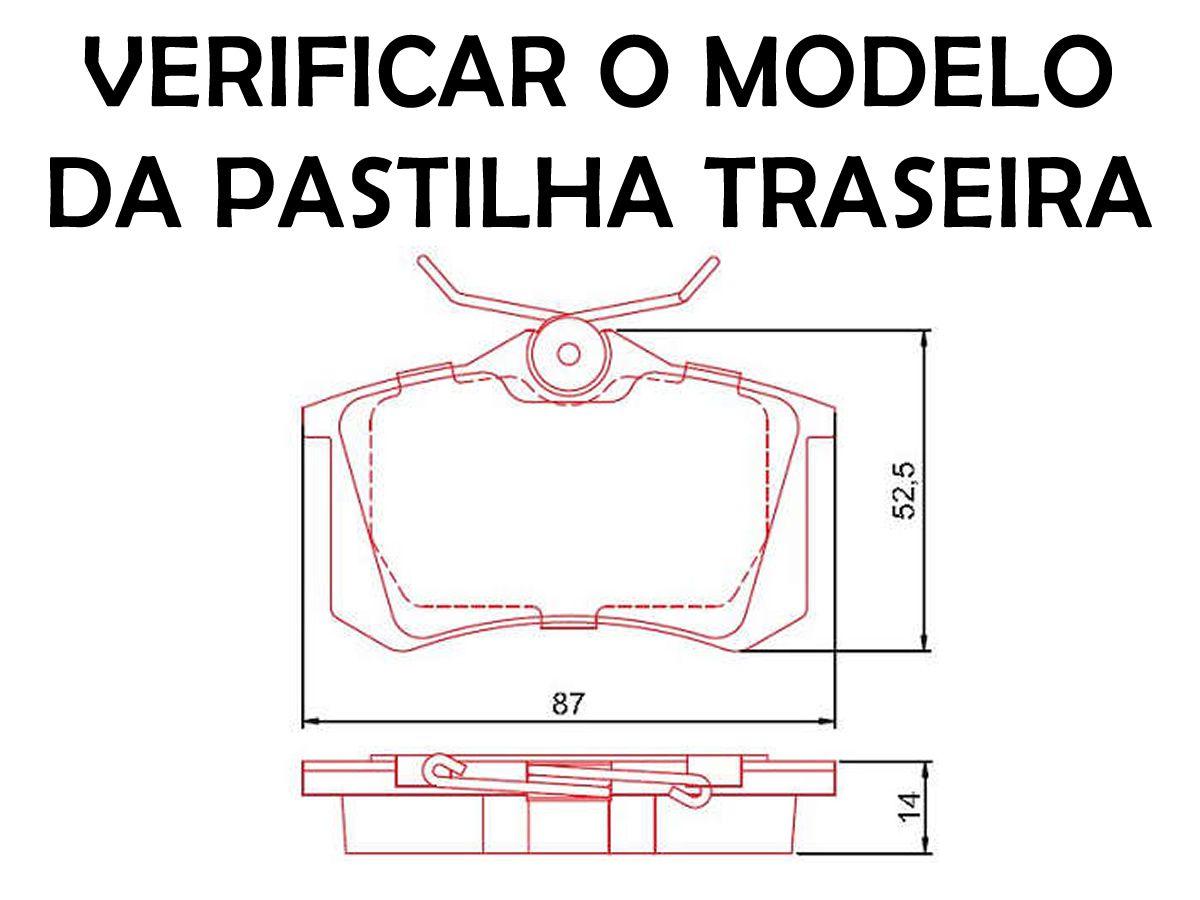 Kit Pastilha Cerâmica Dianteira E Traseira Peugeot 308 408 THP