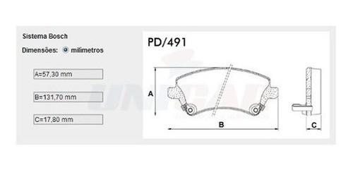 Kit Pastilha Disco e Pinos Freio Dianteiro Corolla Fielder 03/08 Original TRW  - Unicar