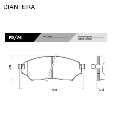 Kit Pastilha Freio Dianteira + Traseira Pajero Tr4 2002 em Diante