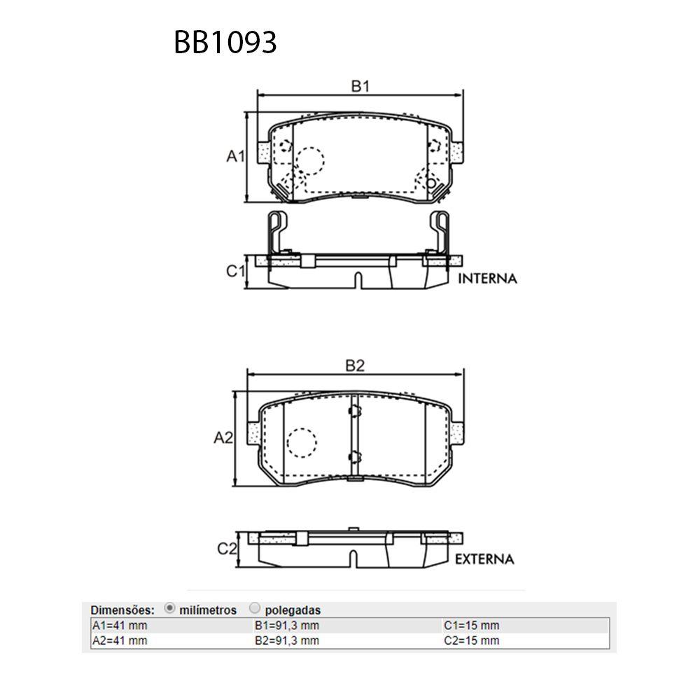 Kit Pastilhas Freio Dianteiro + Traseiro Hyundai I30 2.0 16v 2009 a 2012 Bosch Original  - Unicar
