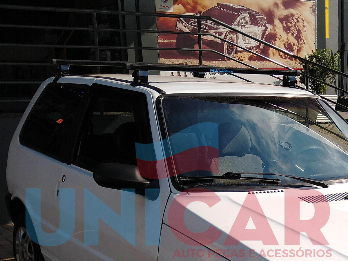 Kit Rack + Porta Escadas Fiat Uno 2 Portas Super Resistente Todos Modelo Quadrado   - Unicar
