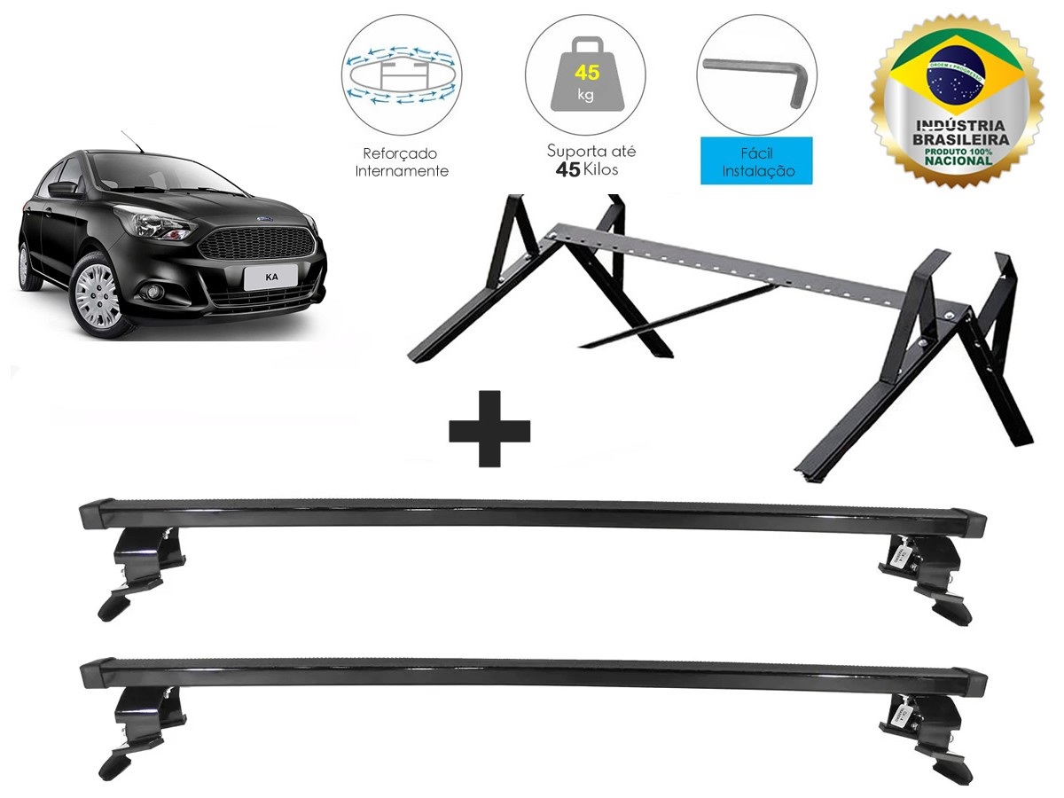 Kit Rack + Porta Escadas Ford Novo Ka Após 2014