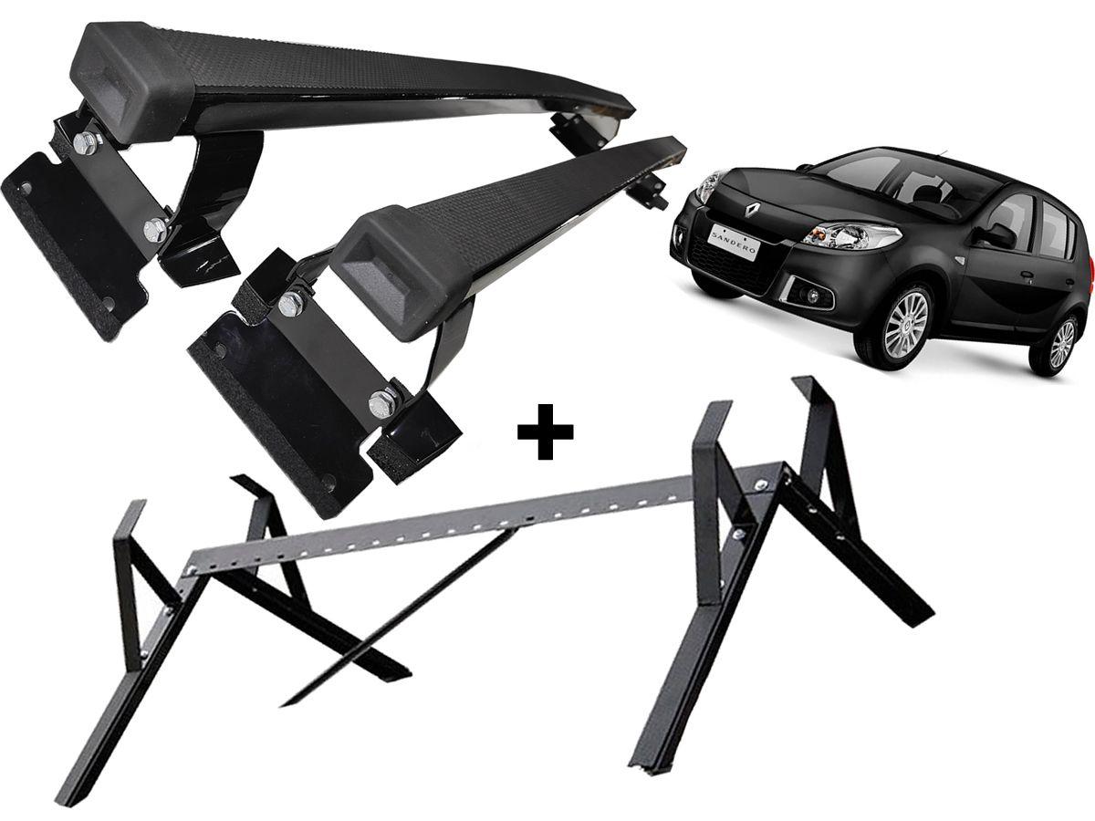 Kit Rack + Porta Escadas Logan Sandero Todos Modelos Exceto StepWay