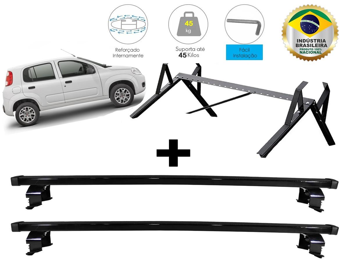 Kit Rack + Porta Escadas NewLife Fiat Novo Uno 4 Portas
