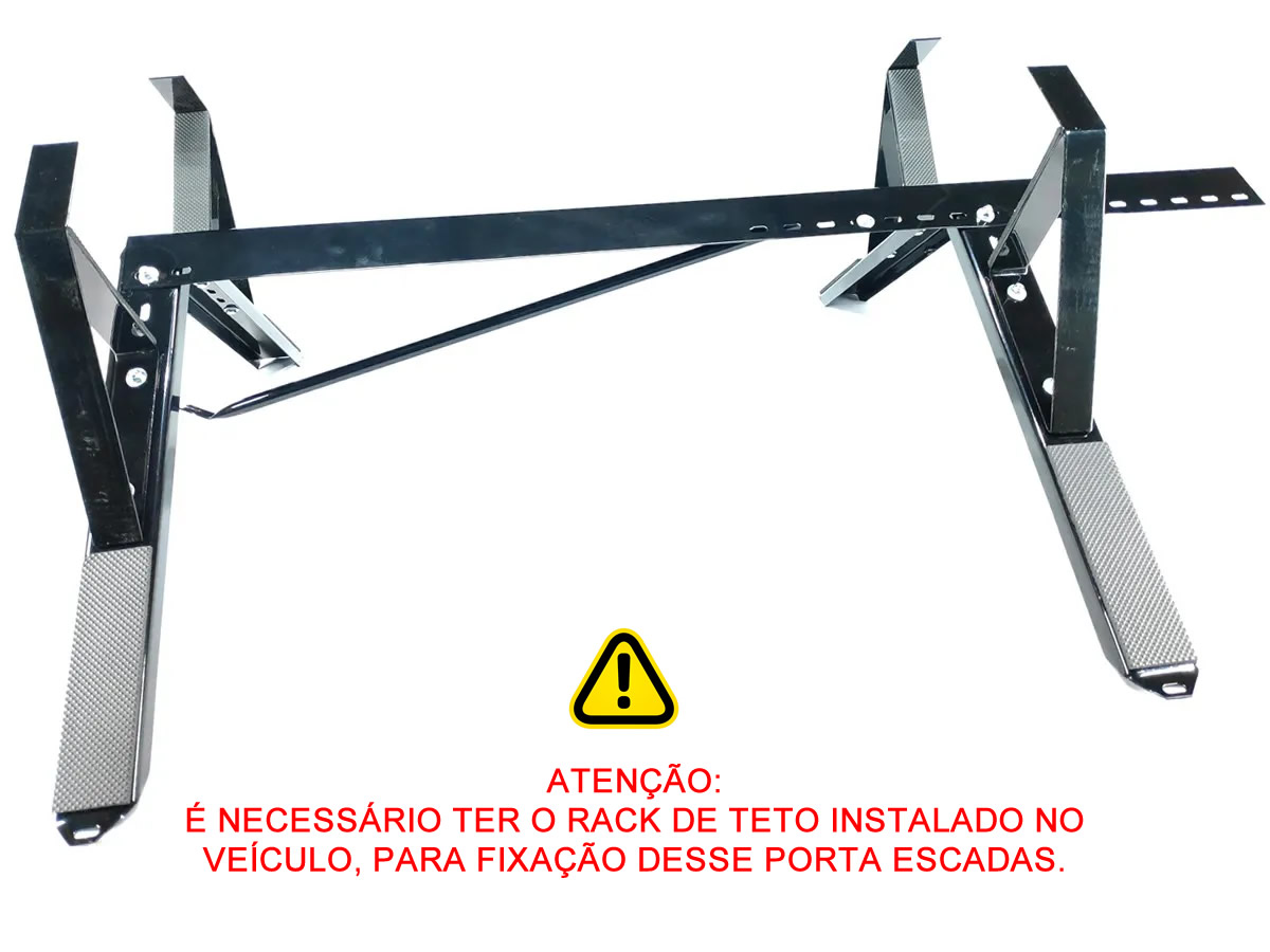 Kit Rack + Porta Escadas Onix 2013 a 2019 Super Resistente Não Precisa Perfurar o Teto  - Unicar