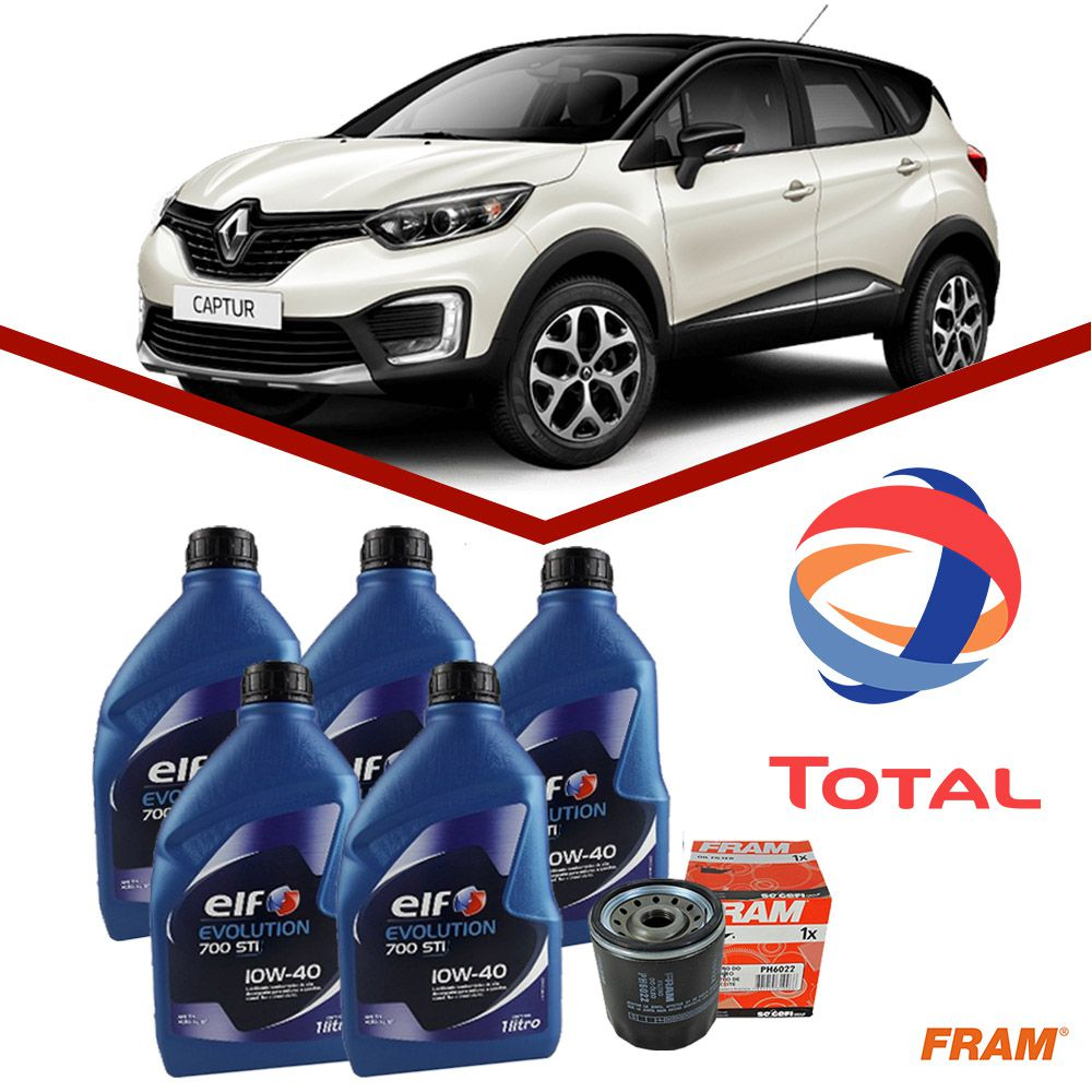 Kit Troca de Oleo + Filtro Renault Captur 1.6 16v Elf 10w40