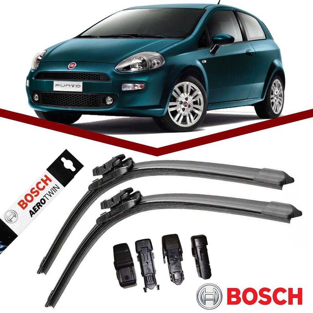 Par Palheta Original Bosch Aerotwin Fiat Punto 2007 em Diante