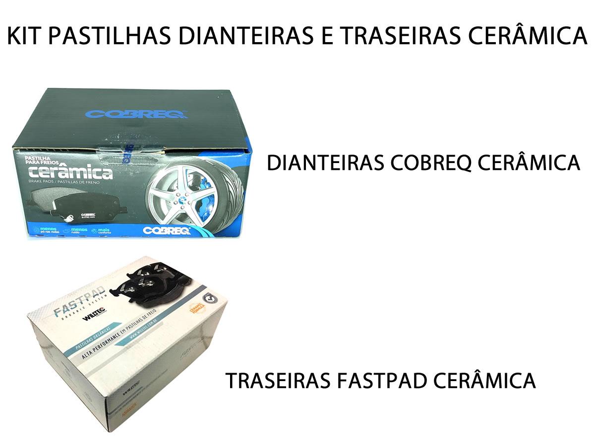 Pastilha Cerâmica Dianteira E Traseira Cruze 1.4 Turbo Após 2017  - Unicar