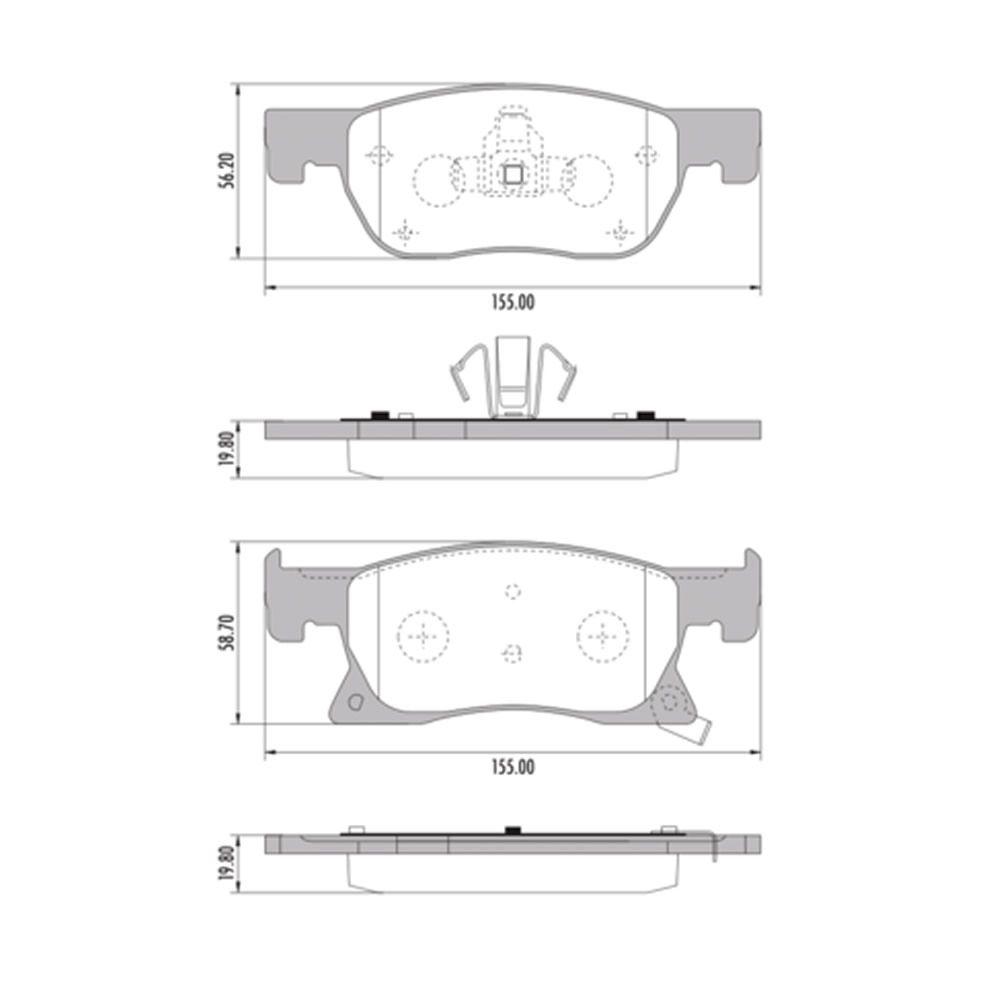 Pastilha de Freio Cruze 1.4 Turbo Dianteiro a Partir de 2017 Original Bosch  - Unicar