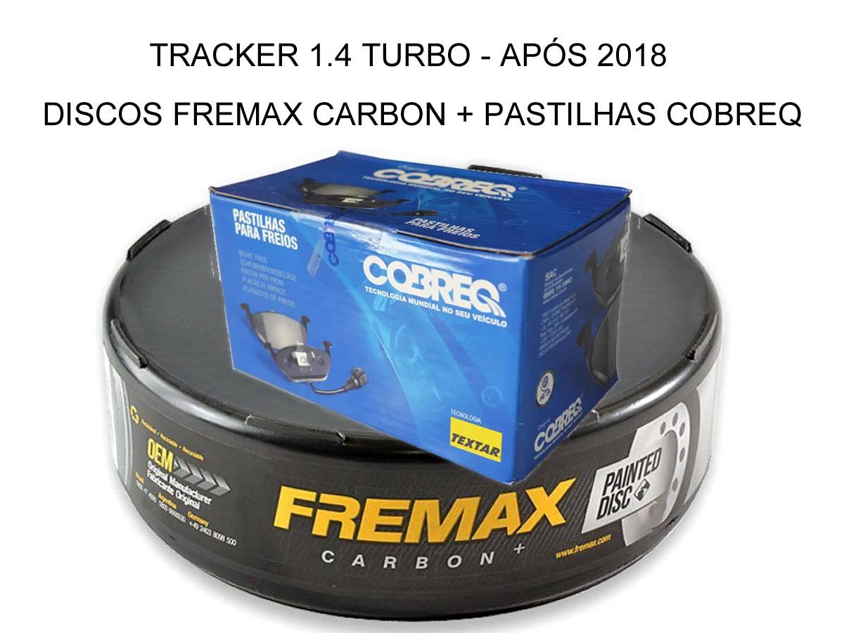 Pastilha + Disco Freio Dianteiro Tracker 1.4 16v Turbo 2018 2019 2020 2021  - Unicar
