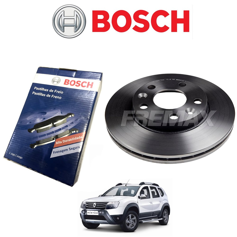 Pastilha E Disco Freio Duster Fluence 2.0 Trw Bosch  - Unicar