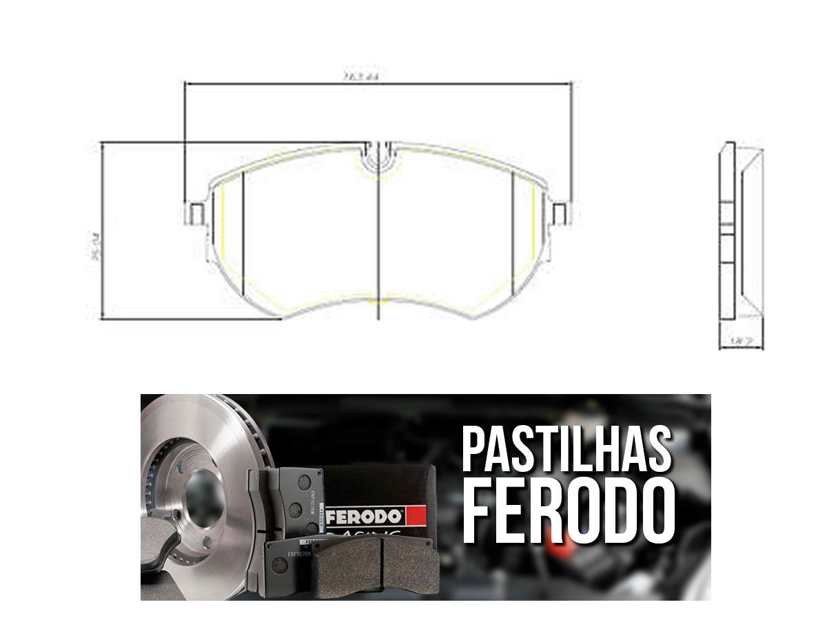 Pastilha Freio Dianteira Ferodo Ceramica Amarok 3.0 V6 Após 2018  - Unicar