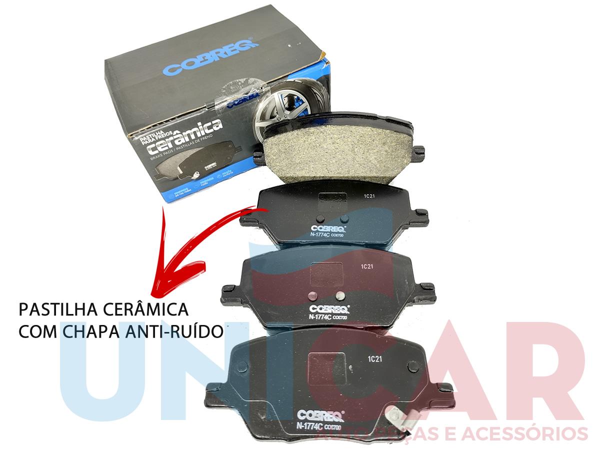 Pastilha Freio Dianteira Cerâmica Compass Renegade Toro  - Unicar