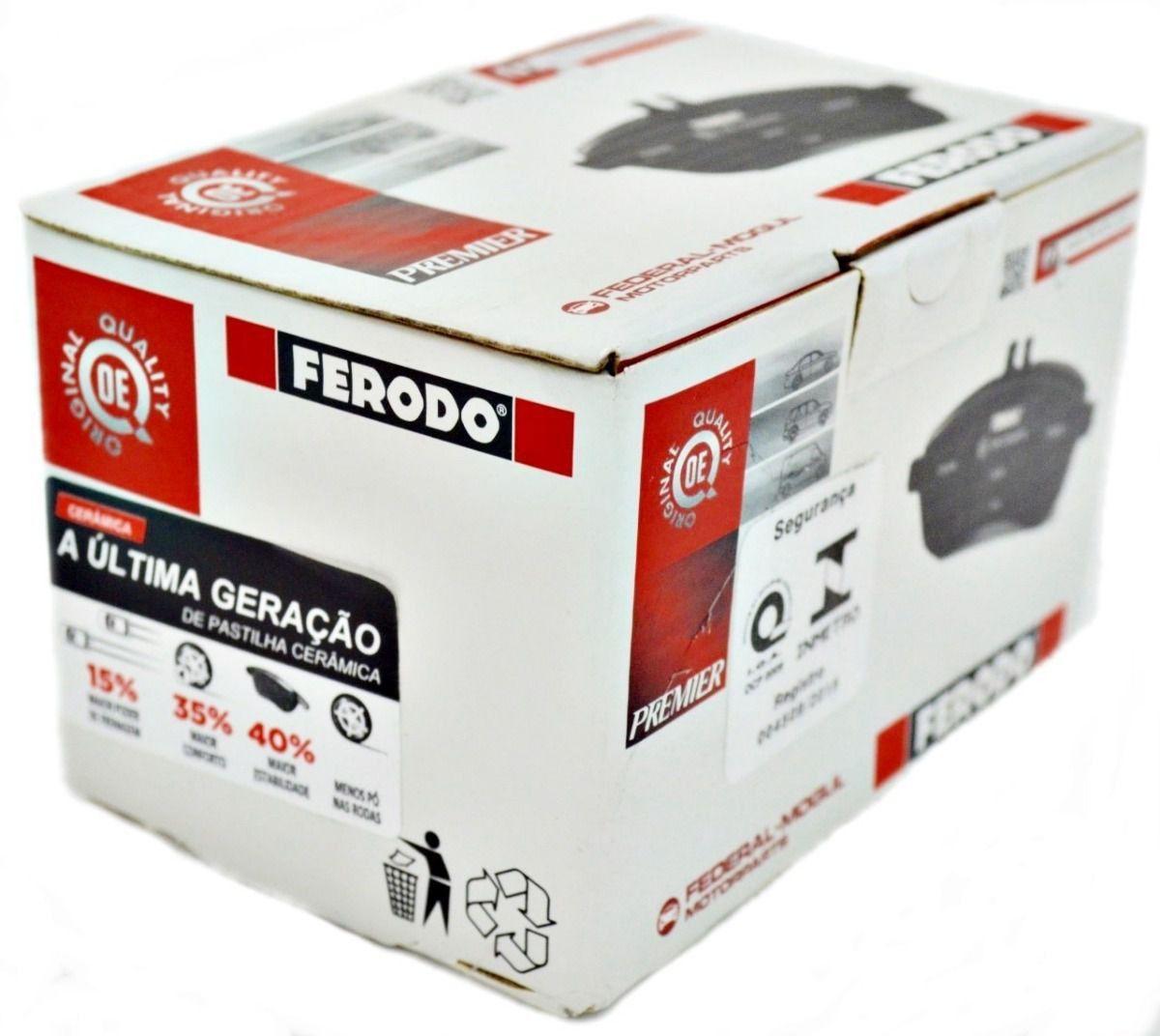 Pastilha Freio Dianteira Ceramica Ferodo Q3 Jetta Passat Tiguan 2010 em diante