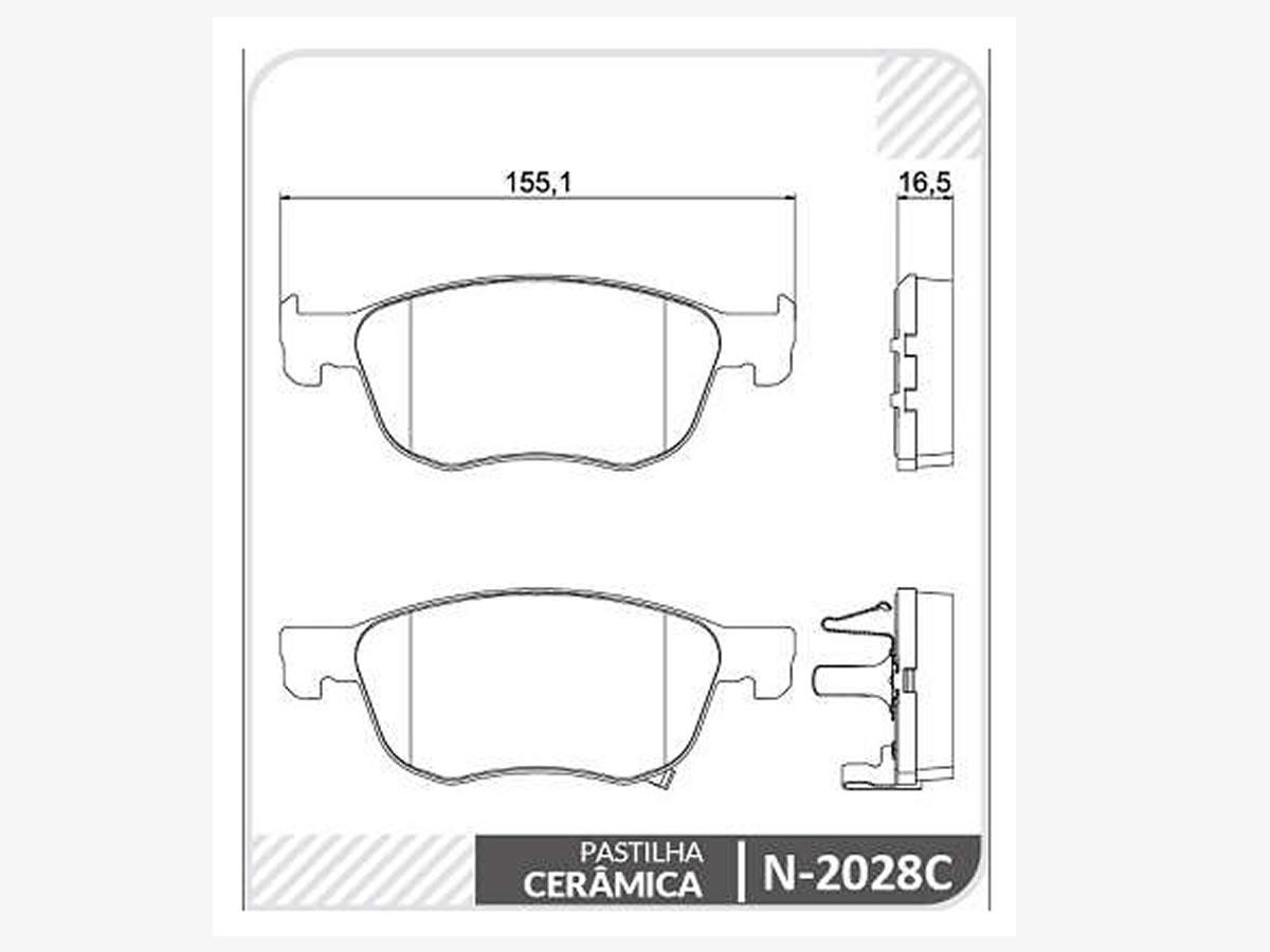 Pastilha Freio Dianteira Cerâmica Honda Civic 1.5 Turbo 2.0 i-vTEC Após 2020 HR-V Após 2020  - Unicar