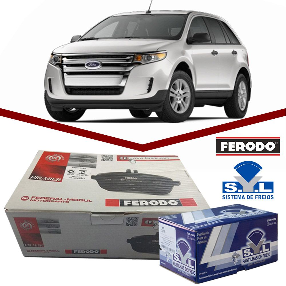 Pastilha Freio Dianteira Ferodo Ceramica + Traseita Syl Ford Edge 3.5 2011 Em Diante  - Unicar