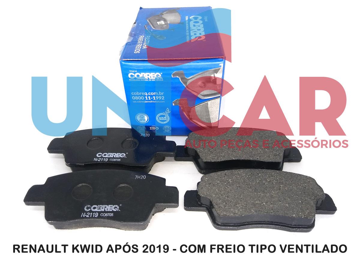 Pastilha Freio Dianteira Renault Kwid Após 2019 Freio Ventilado  - Unicar